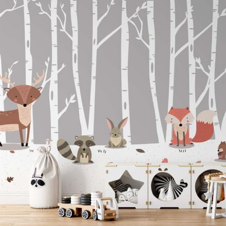 "Easy to apply wallpaper ""Forest Animals"""